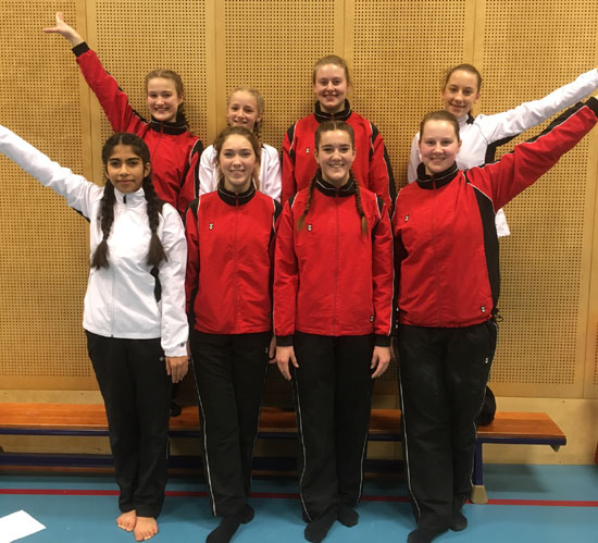 Turnteam Olympia in finale Rayon Turn Toernooi